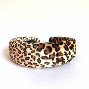 NEW Tan & Brown Leopard Print Padded Headband
